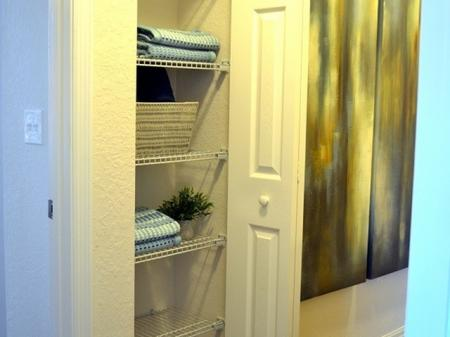 Linen closets in each townhome
