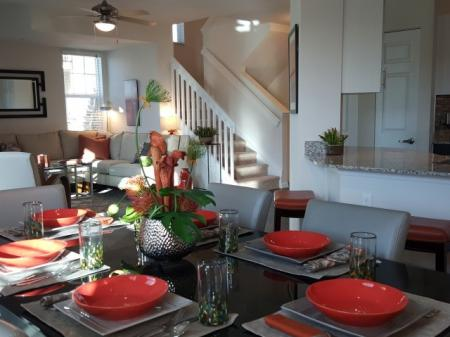 3-story townhome with full size dining room