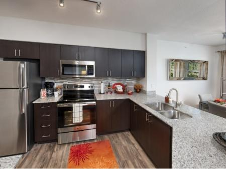 Large kitchens in all townhomes