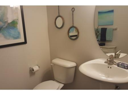 All townhomes have a powder room